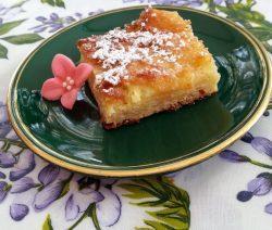 torta di mele budino